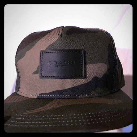Coach camo baseball hat d7884b752b2a